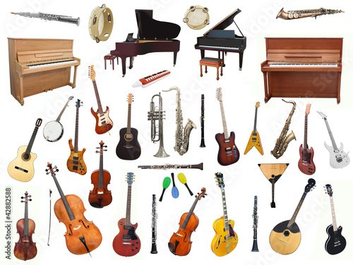 Fotomural music instruments
