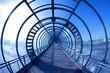 Leinwanddruck Bild - blue tunnel