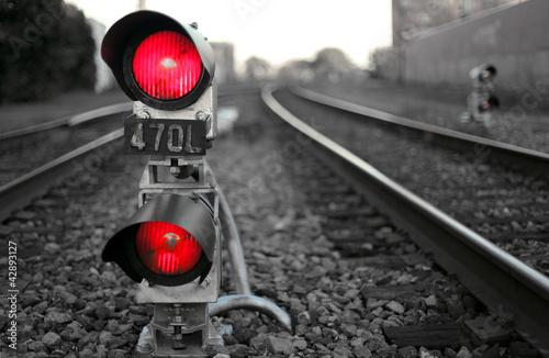 The Train Signal Fototapet