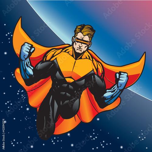 Poster Superheroes Captain Blast Beam 8