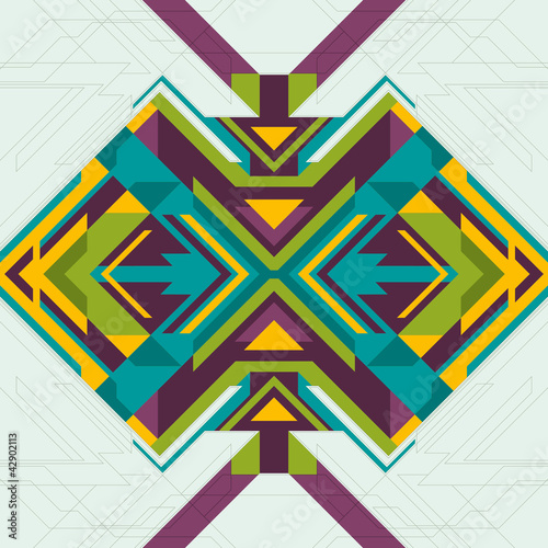 Fotobehang ZigZag Geometric colorful abstraction.