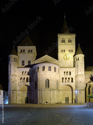 Night view of the Trier Cathedral - oldest cathedral in