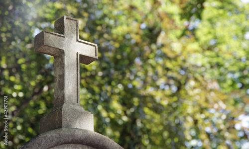 Foto op Canvas Begraafplaats glaube