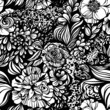 Fantasy abstract floral seamless pattern