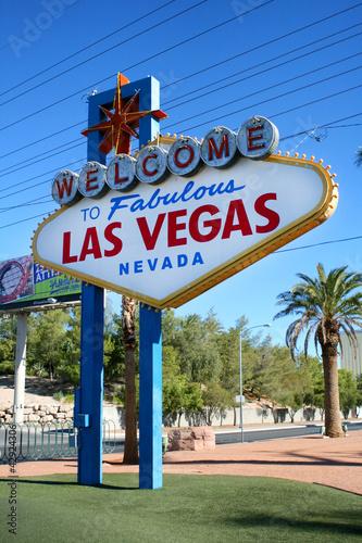 Tuinposter Las Vegas Welcome to Las Vegas Sign