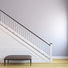 Stairway In The Modern House.