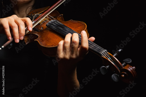 Fotografie, Obraz Musician playing violin