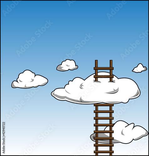 Poster Ciel ladder in the sky