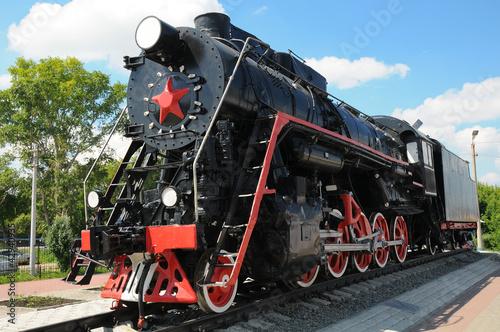 Stampa su Tela Old locomotive