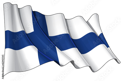 Canvas Print Flag of Finland