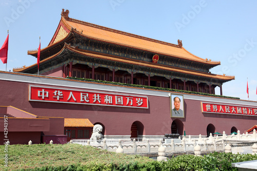 Deurstickers Peking Tienanmen Gate (The Gate of Heavenly Peace)