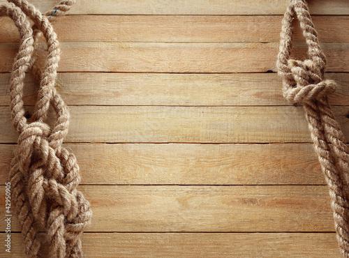 Foto auf AluDibond Schiff Ship ropes