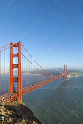 Keuken foto achterwand San Francisco famous San Francisco Golden Gate bridge in late afternoon light