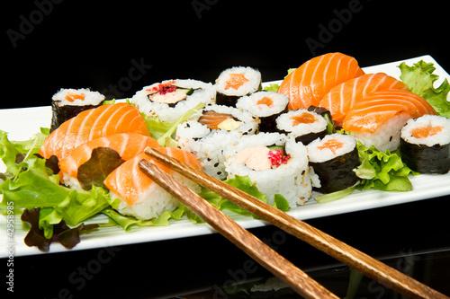 Foto op Plexiglas Sushi bar sushi