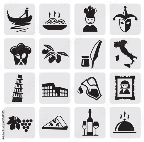 Valokuvatapetti Italian icons