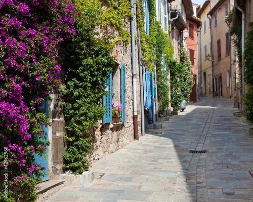 Fototapeta Idyllische Gasse in der Provence obraz
