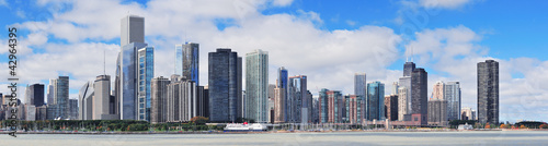 Foto op Plexiglas Chicago Chicago city urban skyline panorama