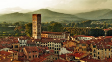 Panorama Of Lucca, Italy