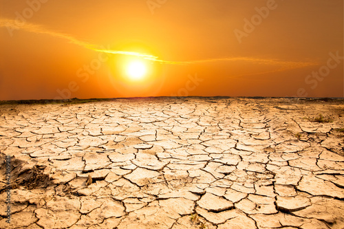 Stampa su Tela drought land and hot weather