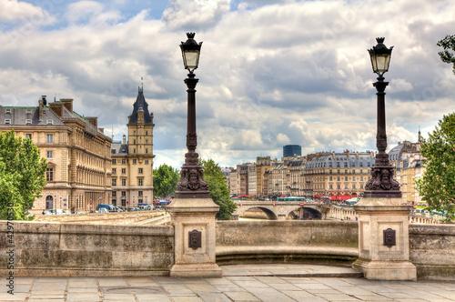 Paris cityscape. Pont Neuf.