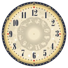 Horoscope Clock Face