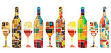 Abstract wine collection - 42974175