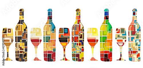 Fotografía  Abstract wine collection