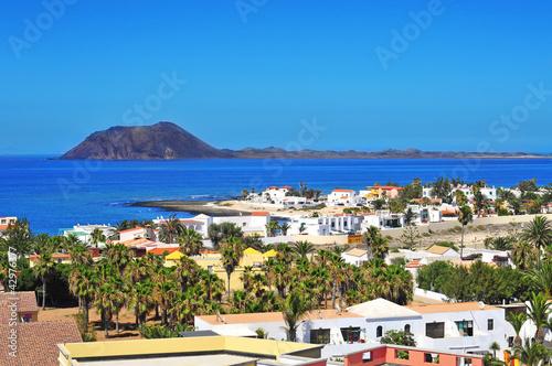 Lobos Island and Corralejo in Fuerteventura, Spain