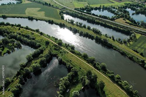 Fotografie, Obraz  la Moselle vue du ciel de Cattenom (57)