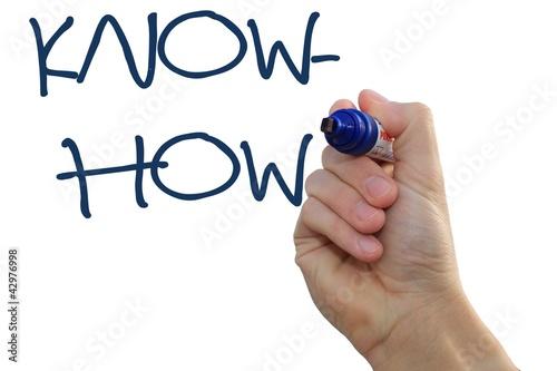 Fotografie, Obraz  Handschrift Know-how