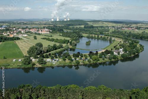 Fotografie, Obraz  la Moselle et la central nucléaire de cattenom