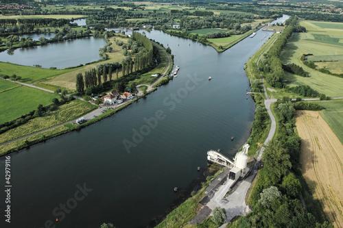 Fotografie, Obraz  écluse de Kœnigsmacker, Moselle (57)