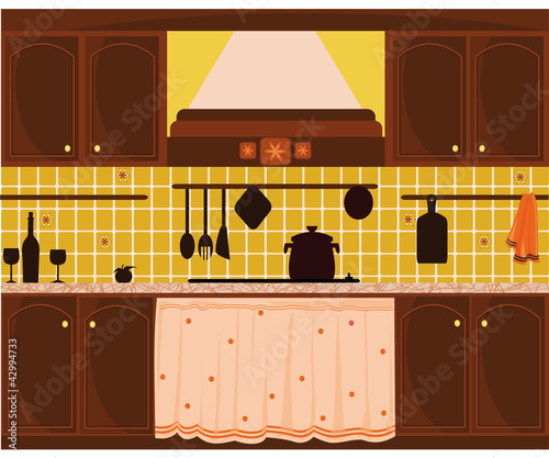 cucina stile rustico - Buy this stock vector and explore ...
