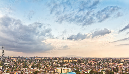 Photo sur Toile Vue aerienne Aerial view of Addis Ababa