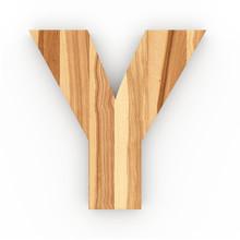 3d Font Wood Ash Letter Y