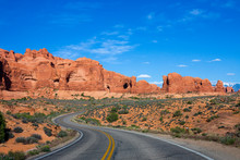 Winding Road At Arches National Park, Utah