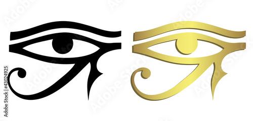 Obraz na płótnie Eye of Horus in black and gold