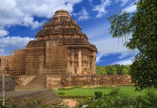 Sun Temple. Konark, Orissa, India Fototapet