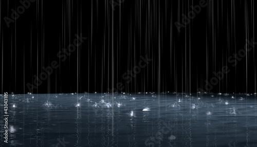 Fotografia Night rain