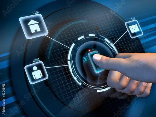 Fotografía  Fingerprint access