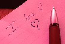 I Love U On The Paper And Pencil