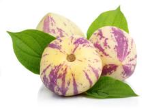 Ripe Tropical Pepino Fruit Wit...