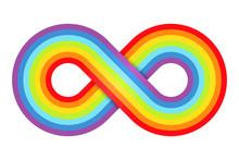 Abstract Rainbow Infinity. Vec...