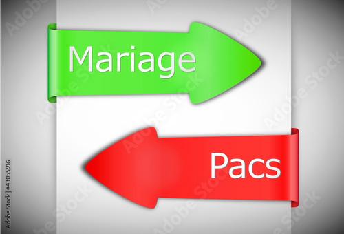 Photo  choix mariage ou pacs