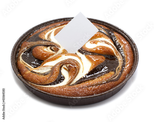 Tuinposter Koekjes gâteau tarte marbré caramel chocolat