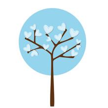 Azure Heart Tree - Albero In Azzurro