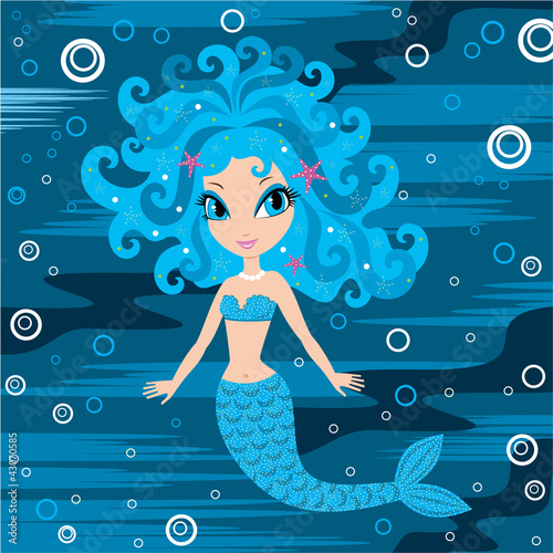 Wall Murals Mermaid Mermaid cartoon