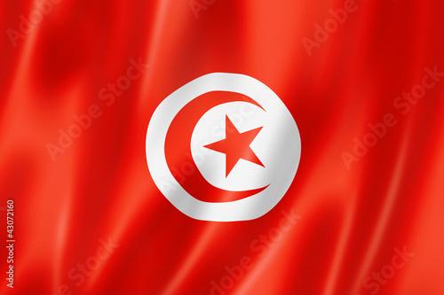 Tunisian flag Fotobehang
