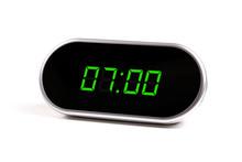 Digital Alarm Clock With Green...