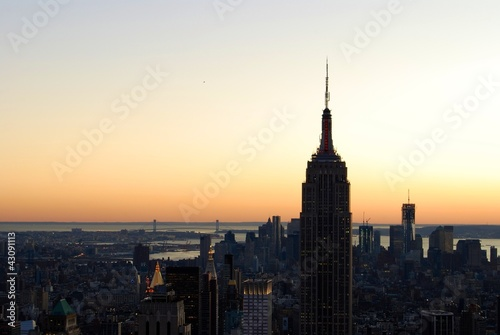 Foto op Canvas New York Atardecer en New York